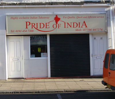 Pride of India Takeaway South Shields Picture