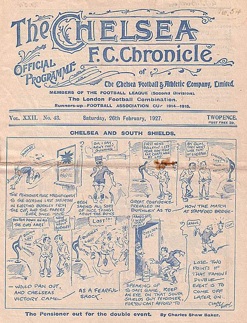 Chelsea Football Club V South Shields Football Club ...