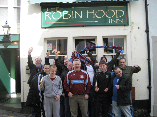 photo of South Shields FC Supporters outside the Robin ...