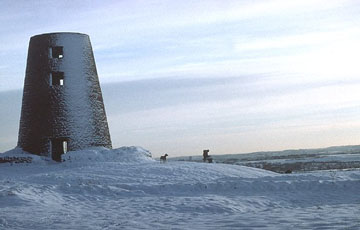 picture of a windmill on cleadon hills