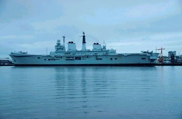 picture of a royal navy ship in the river tyne