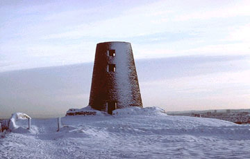 picture of the windmill on cleadon hills
